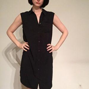 &otherstories black sleeveless shirt dress
